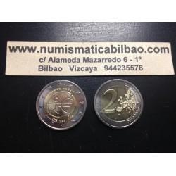 CHIPRE 2 EUROS 2009 ANIVERSARIO EMU SC BIMETALICA