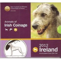 IRLANDA CARTERA OFICIAL EUROS 2012 : 1+2+5+10+20+50 Centimos + 1 EURO + 2 EUROS 2012 UNC BU SET
