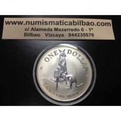 AUSTRALIA 1 DOLAR 1996 CANGURO MONEDA DE PLATA SC SILVER Kangaroo Känguru $1 Dollar OZ ONZA OUNCE