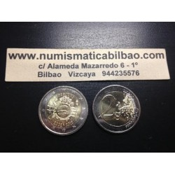 HOLANDA 2 EUROS 2012 X ANIVERSARIO @RARA@ SC BIMETALICA MONEDA CONMEMORATIVA