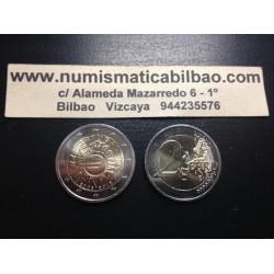 PORTUGAL 2 EUROS 2012 X ANIVERSARIO SC BIMETALICA MONEDA CONMEMORATIVA