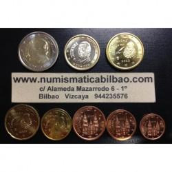 ESPAÑA MONEDAS EURO 2003 SIN CIRCULAR 1+2+5+10+20+50 Centimos 1 EURO + 2 EUROS
