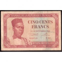 MALI 500 FRANCOS 1960 MBC PICK 3 FRANCS RARO