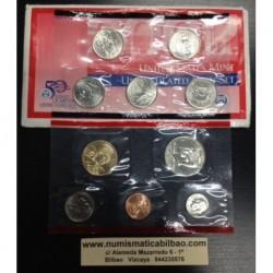 ESTADOS UNIDOS 2002 US MINT BU SET 1 Centavo a 1 Dolar DENVER