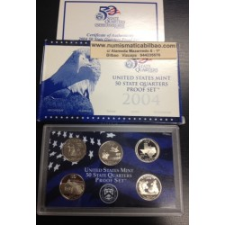 2004 UNITED STATES MINT 50 STATE QUARTERS PROOF SET 5 x 25 CENTAVOS 2004 NICKEL