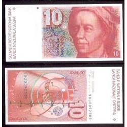 SUIZA 10 FRANCOS 1990 UNC PICK 53H SWITZERLAND FRANCS