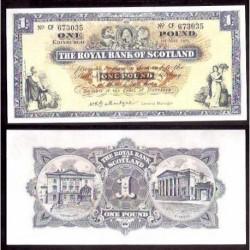 ESCOCIA 1 LIBRA 1965 ROYAL BANK Pick 325A SC- SCOTLAND POUND