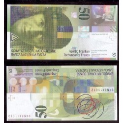 SUIZA 50 FRANCOS 1994 UNC PICK 70 SWITZERLAND FRANCS