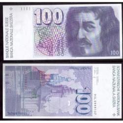 SUIZA 100 FRANCOS 1993 SIN CIRCULAR PICK 57M FRANCS