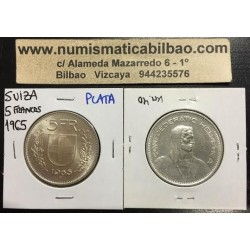 SUIZA 5 FRANCOS 1965 B GUILLERMO TELL PLATA KM*40 SILVER FRANCS