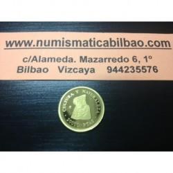 ESPAÑA 20000 PESETAS 1995 CULTURA y NATURALEZA 2ª SERIE DAMA DE ELCHE MONEDA DE ORO PROOF Spain gold coin
