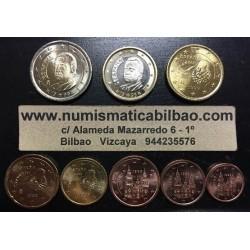 ESPAÑA MONEDAS EURO 1999 SIN CIRCULAR 1+2+5+10+20+50 Centimos 1 EURO + 2 EUROS