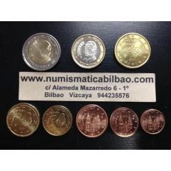 ESPAÑA MONEDAS EURO 2001 SIN CIRCULAR 1+2+5+10+20+50 Centimos 1 EURO + 2 EUROS