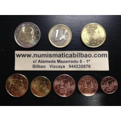 ESPAÑA MONEDAS EURO 2013 SIN CIRCULAR 1+2+5+10+20+50 Centimos 1 EURO + 2 EUROS