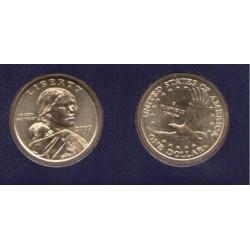 ESTADOS UNIDOS 1 DOLAR 2007 D INDIA SACAGAWEA MONEDA DE LATON SC USA $1 Dollar coin