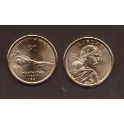 ESTADOS UNIDOS 1 DOLAR 2011 P INDIA SACAGAWEA MONEDA DE LATON SC USA $1 Dollar coin