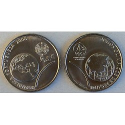 PORTUGAL 2,50 EUROS 2008 OLIMPIADA DE BEIJING EN CHINA MONEDA DE NICKEL SC