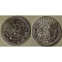 PORTUGAL 1,50 EUROS 2009 ANTIGUA MONEDA DEL REY SANCHO II NICKEL SC