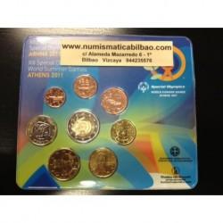 GRECIA CARTERA OFICIAL EUROS 2011 SC 1+2+5+10+20+50 CENTIMOS 1 EURO + 2 EUROS CONMEMORATIVO NO EUROPA