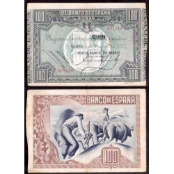 BILBAO EUSKADI 100 PESETAS 1937 BANCO DE BILBAO 337619 BILLETE MBC EUZKADI PICK S.565