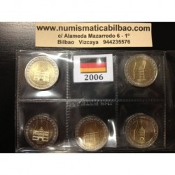 2 EUROS 2006 ALEMANIA IGLESIA HOLSTEIN SC A+D+F+G+J 5 MONEDAS SIN CIRCULAR