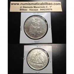 MEXICO 1 PESO 1872 MEXICO Mo M PLATA SILVER COIN KM*408.5