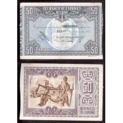 1937 EUSKADI 50 PESETAS MONTE DE PIEDAD MBC++ 165255 BILBAO