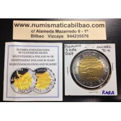 FINLANDIA 5 EUROS 2007 INDEPENDENCIA BIMETALICA SC FINNLAND @MONEDA RARA@