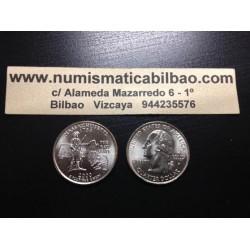 ESTADOS UNIDOS 1/4 DOLAR 25 CENTAVOS 2000 D SC MASSACHUSETTS