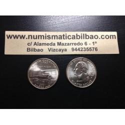 ESTADOS UNIDOS 1/4 DOLAR 25 CENTAVOS 2001 D SC NORTH CAROLINA