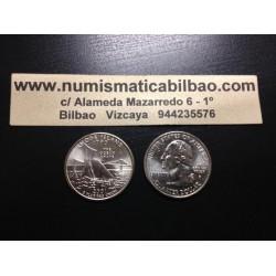 ESTADOS UNIDOS 1/4 DOLAR 25 CENTAVOS 2001 P SC RHODE ISLAND