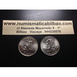 ESTADOS UNIDOS 1/4 DOLAR 25 CENTAVOS 2002 P SC LOUSIANA