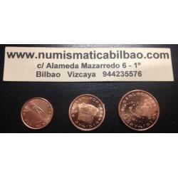 ESLOVENIA 1+2+5 CENTIMOS 2007 COBRE SIN CIRCULAR Slovenia Euro Euros Cents