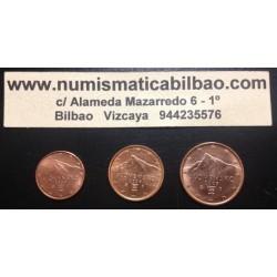 1+2+5 CENTIMOS ESLOVAQUIA 2009 COBRE SIN CIRCULAR SLOVAKIA EUROS