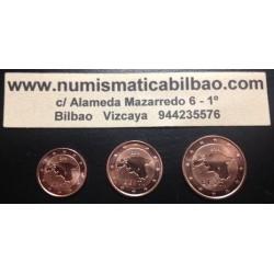 1+2+5 CENTIMOS ESTONIA 2011 COBRE SIN CIRCULAR EUROS UNC
