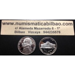 ESTADOS UNIDOS 5 CENTAVOS 1979 S JEFFERSON NICKEL PROOF TIPO 1