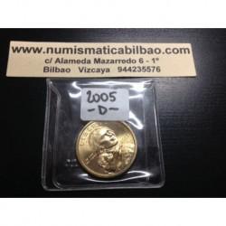 ESTADOS UNIDOS 1 DOLAR 2005 D INDIA SACAGAWEA MONEDA DE LATON SC USA $1 Dollar coin