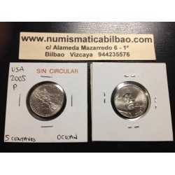 .ESTADOS UNIDOS 5 CENTAVOS 2005 P OCEANO NICKEL SC USA