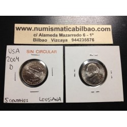 .ESTADOS UNIDOS 5 CENTAVOS 2004 D LOUISIANA NICKEL SC USA