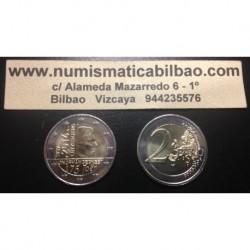 LUXEMBURGO 2 EUROS 2014 INDEPENDENCIA 125 ANIVERSARIO SC MONEDA CONMEMORATIVA