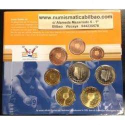 @OFERTA@ HOLANDA CARTERA OFICIAL EUROS 2001 BU SET 1+2+5+10+20+50 CENTIMOS 1 EURO + 2 EUROS 2001 SC REINA BEATRIZ