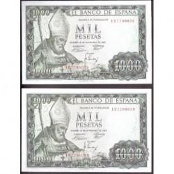 ESPAÑA 1000 PESETAS 1965 SAN ISIDORO SANTIAGO APOSTOL SERIE 1H 7790098 Pick 151 BILLETE SIN CIRCULAR PLANCHA Spain