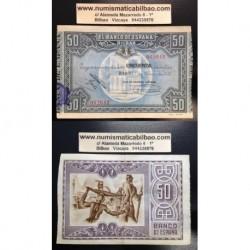 1937 EUSKADI 50 PESETAS CAJA AHORROS VIZCAINA EBC 062642