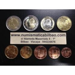 ESPAÑA MONEDAS EURO 2009 SC 1+2+5+10+20+50 Centimos 1 EURO + 2 EUROS + 2 EUROS 2009 EMU ANIVERSARIO