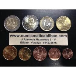 ESPAÑA MONEDAS EURO 2013 SC 1+2+5+10+20+50 Centimos 1 EURO + 2 EUROS + 2 EUROS 2013 SAN LORENZO DE EL ESCORIAL
