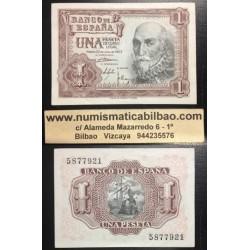 @OFERTA@ ESPAÑA 1 PESETA 1953 MARQUES DE SANTA CRUZ Sin Serie 921 Pick 144 BILLETE CASI SIN CIRCULAR