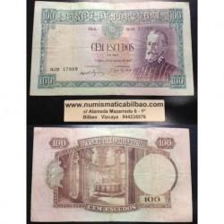 . PORTUGAL 100 ESCUDOS 25 JULIO 1957 PEDRO NUNES Serie GJN