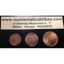 1+2+5 CENTIMOS HOLANDA 1999 COBRE SIN CIRCULAR NETHERLANDS EUROS