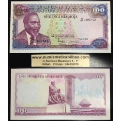 KENIA 100 SHILLINGS 1978 MZEE JOMO Pick 18 BILLETE SC Kenya 100 Shilingi UNC BANKNOTE