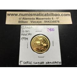 ESPAÑA 20000 PESETAS 1994 CULTURA y NATURALEZA 1ª SERIE PINTURAS RUPESTRES MONEDA DE ORO PROOF Spain gold coin